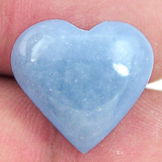 angelite blue cabochon 16.5x15.5 mm heart loose gemstone s17314
