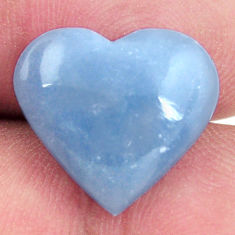 Natural 7.40cts angelite blue cabochon 16x14 mm heart loose gemstone s17294
