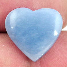 Natural 8.45cts angelite blue cabochon 16x15 mm heart loose gemstone s17281