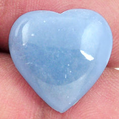 Natural 8.40cts angelite blue cabochon 16x15 mm heart loose gemstone s17283