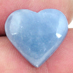 Natural 7.40cts angelite blue cabochon 16x15 mm heart loose gemstone s17288