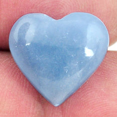 Natural 9.45cts angelite blue cabochon 16x15 mm heart loose gemstone s17291