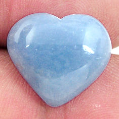angelite blue cabochon 16x15 mm heart loose gemstone s17316