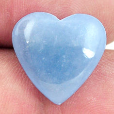 angelite blue cabochon 16x15 mm heart loose gemstone s17319