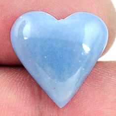 angelite blue cabochon 16x16 mm heart loose gemstone s17311