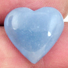 Natural 7.80cts angelite blue cabochon 17x16 mm heart loose gemstone s17287