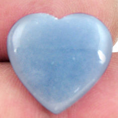 Natural 9.30cts angelite blue cabochon 17x16 mm heart loose gemstone s17290