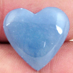 Natural 6.30cts angelite blue cabochon 17x16 mm heart loose gemstone s17298