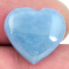 Natural 9.30cts angelite blue cabochon 17x16 mm heart loose gemstone s17301