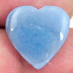 Natural 9.45cts angelite blue cabochon 17x16.5 mm heart loose gemstone s17285