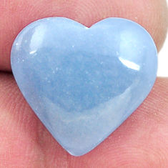Natural 11.30cts angelite blue cabochon 18x17 mm heart loose gemstone s17312