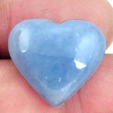 Natural 16.30cts angelite blue cabochon 19x18 mm heart loose gemstone s17296