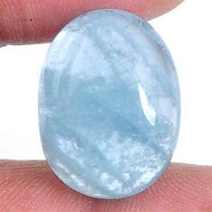 Natural 21.25cts aquamarine blue 21x16 mm fancy loose gemstone s20479