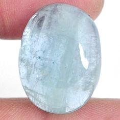 Natural 21.30cts aquamarine green cabochon 22.5x17 mm oval loose gemstone s20433