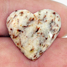 Natural 12.15cts astrophyllite (star leaf) 20x18 mm heart loose gemstone s17086