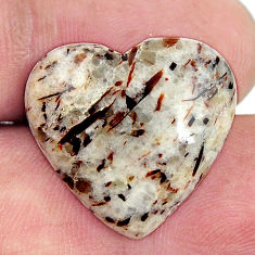 Natural 17.30cts astrophyllite (star leaf) 21.5x20mm heart loose gemstone s17087