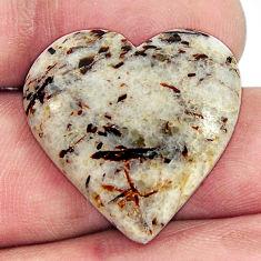 astrophyllite (star leaf) 24x23 mm heart loose gemstone s17109