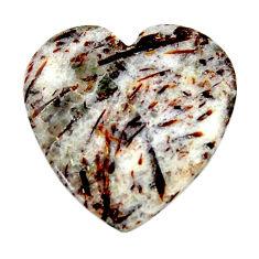 Natural 25.15cts astrophyllite (star leaf) 26x26 mm heart loose gemstone s18793