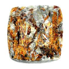 Natural 61.30cts astrophyllite (star leaf) 28x25mm octagan loose gemstone s22155