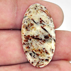 Natural 15.30cts astrophyllite (star leaf) 31x17 mm oval loose gemstone s17097