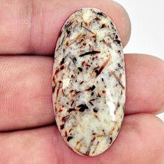 Natural 28.15cts astrophyllite (star leaf) 35x17 mm oval loose gemstone s17076