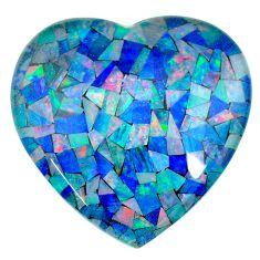 Natural 103.80cts australian opal triplet 40x40 mm heart loose gemstone s22560