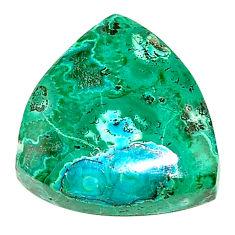 Natural 17.10cts azurite malachite green 18x17.5 mm fancy loose gemstone s23254