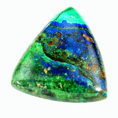 azurite malachite green 22x20 mm trillion loose gemstone s17385
