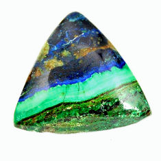 azurite malachite green 22x21 mm trillion loose gemstone s17364