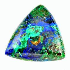 Natural 18.10cts azurite malachite green 22x21 mm trillion loose gemstone s17370