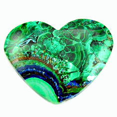 Natural 18.10cts azurite malachite green 26x21 mm heart loose gemstone s17369
