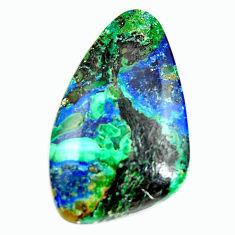 Natural 17.40cts azurite malachite green 27.5x16.5 mm loose gemstone s17398