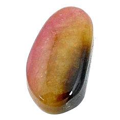 Natural 7.35cts bio tourmaline pink cabochon 16x8.5 mm loose gemstone s22747