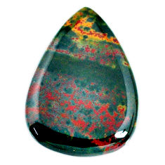 Natural 37.40cts bloodstone african (heliotrope) 33x25 mm loose gemstone s20701
