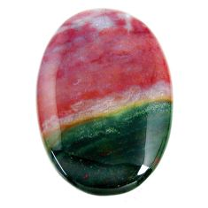 Natural 59.45cts bloodstone african (heliotrope) 44x30mm loose gemstone s19425