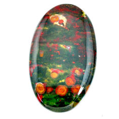 Natural 60.10cts bloodstone african (heliotrope) 45x26.5mm loose gemstone s20716