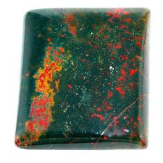 Natural 34.15cts bloodstone african green 26x22 mm octagan loose gemstone s23027