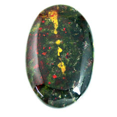 Natural 37.40cts bloodstone african green 34x21 mm oval loose gemstone s19412