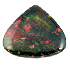 Natural 36.30cts bloodstone african green cabochon 33x30mm loose gemstone s19419