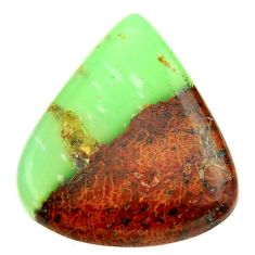 Natural 30.10cts boulder chrysoprase brown 30x27 mm heart loose gemstone s17718