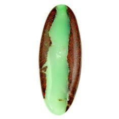 boulder chrysoprase brown 46x17 mm oval loose gemstone s16404