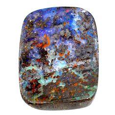 Natural 31.45cts boulder opal blue cabochon 28x20 mm loose gemstone s22574