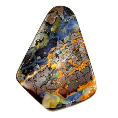 Natural 37.35cts boulder opal brown cabochon 33.5x24 mm loose gemstone s16266
