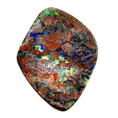 boulder opal brown cabochon 35x26mm fancy loose gemstone s16271