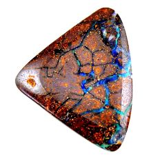 Natural 33.10cts boulder opal brown cabochon 35x27mm fancy loose gemstone s19235