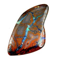 boulder opal brown cabochon 37x20mm fancy loose gemstone s16285