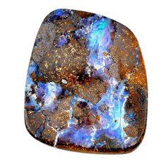 Natural 63.15cts boulder opal brown cabochon 37x31mm fancy loose gemstone s21417