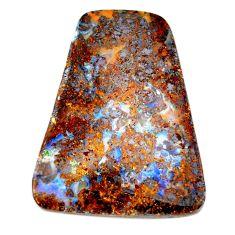 Natural 54.20cts boulder opal brown cabochon 38x29mm fancy loose gemstone s21411