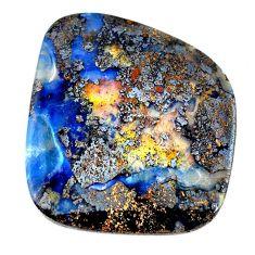 Natural 78.15cts boulder opal brown cabochon 38x34mm fancy loose gemstone s21418