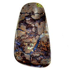 Natural 42.45cts boulder opal brown cabochon 40x21mm fancy loose gemstone s16272